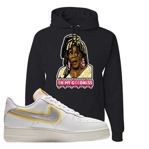 Air Force 1 Low 07 LX White Gold Hoodie | Oh My Goodness, Black