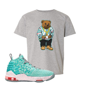 LeBron 17 'South Beach' Kid's T Shirt | Sport Grey, Sweater Bear