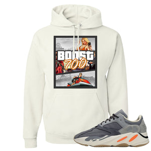 Yeezy Boost 700 Magnet GTA Cover White Sneaker Matching Pullover Hoodie