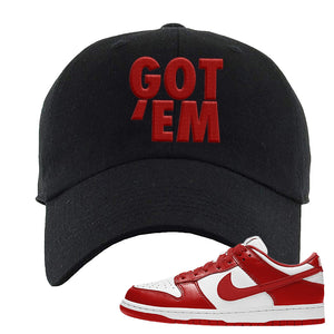 SB Dunk Low St. Johns Dad Hat | Got Em, Black