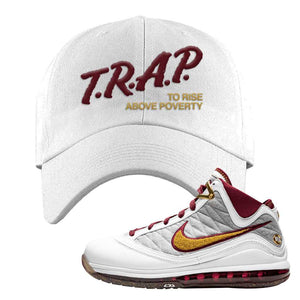 LeBron 7 MVP Dad Hat | White, Trap To Rise Above Poverty