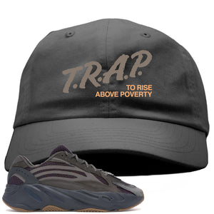 Yeezy Boost 700 Geode Sneaker Hook Up Trap Rise Above Gray Dad Hat