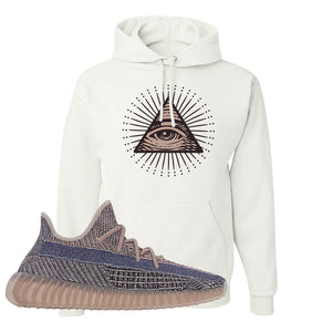 Yeezy Boost 350 V2 Fade Pullover Hoodie | All Seeing Eye, White