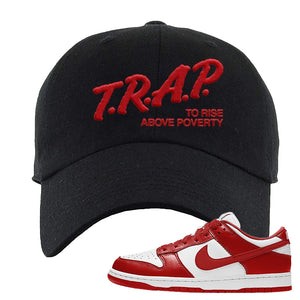 SB Dunk Low 'St. John's' Dad Hat | Black, Trap To Rise Above Poverty