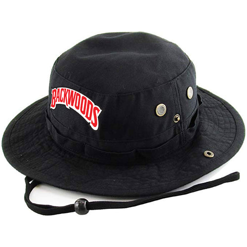Embroidered on the front of the Black n  Sweet Aromatic black boonie  Backwoods Bucket Hat 27a291df6728