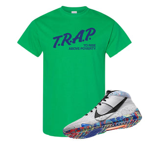 KD 13 Home T Shirt | Irish Green, Trap To Rise Above Poverty