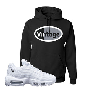 Air Max 95 White Black Hoodie | Black, Vintage Oval