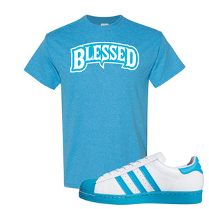 Adidas Superstar 'Aqua Toe' T Shirt | Heather Sapphire, Blessed Arch