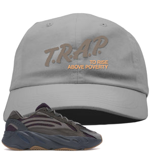 Yeezy Boost 700 Geode Sneaker Hook Up Trap Rise Above Light Gray Dad Hat