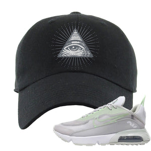 Air Max 2090 'Vast Gray' Dad Hat | Black, All Seeing Eye