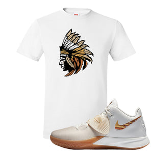 Kyrie Flytrap 3 Summit White T Shirt | Indian Chief, White