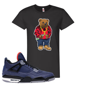 Jordan 4 WNTR Loyal Blue Sweater Bear Black Sneaker Hook Up Women's T-Shirt
