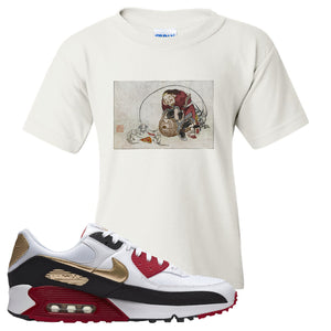 Air Max 90 Chinese New Year Kid's T Shirt | White, Japanese Rat Party