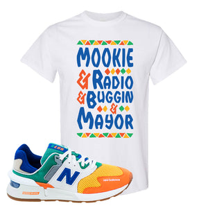 997S Multicolor Sneaker White T Shirt | Tees to match New Balance 997S Multicolor Shoes | Mookie And Gang