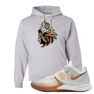 Kyrie Flytrap 3 Summit White Hoodie | Indian Chief, Ash