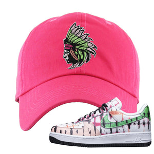 Air Force 1 Low Multi-Colored Tie-Dye Dad Hat | Pink, Indian Chief