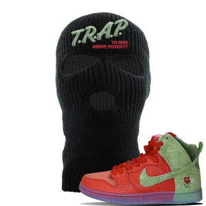 SB Dunk High 'Strawberry Cough' Ski Mask | Black, Trap To Rise Above Poverty