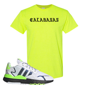 Nite Jogger Signal Green T Shirt | Safety Green, Calabasas