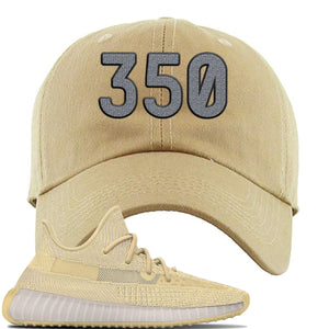 Yeezy Boost 350 V2 Flax Sneaker Khaki Dad Hat | Hat to match Adidas Yeezy Boost 350 V2 Flax Shoes | 350