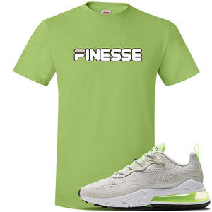 Air Max 270 React Ghost Green Sneaker Lime Green T Shirt | Tees to match Nike Air Max 270 React Ghost Green Shoes | Finesse