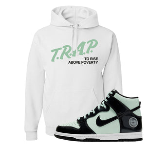 Dunk High All Star 2021 Hoodie | Trap To Rise Above Poverty, White