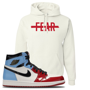 Air Jordan 1 Fearless Fear Crossed Out White Made to Match Pullover Hoodie