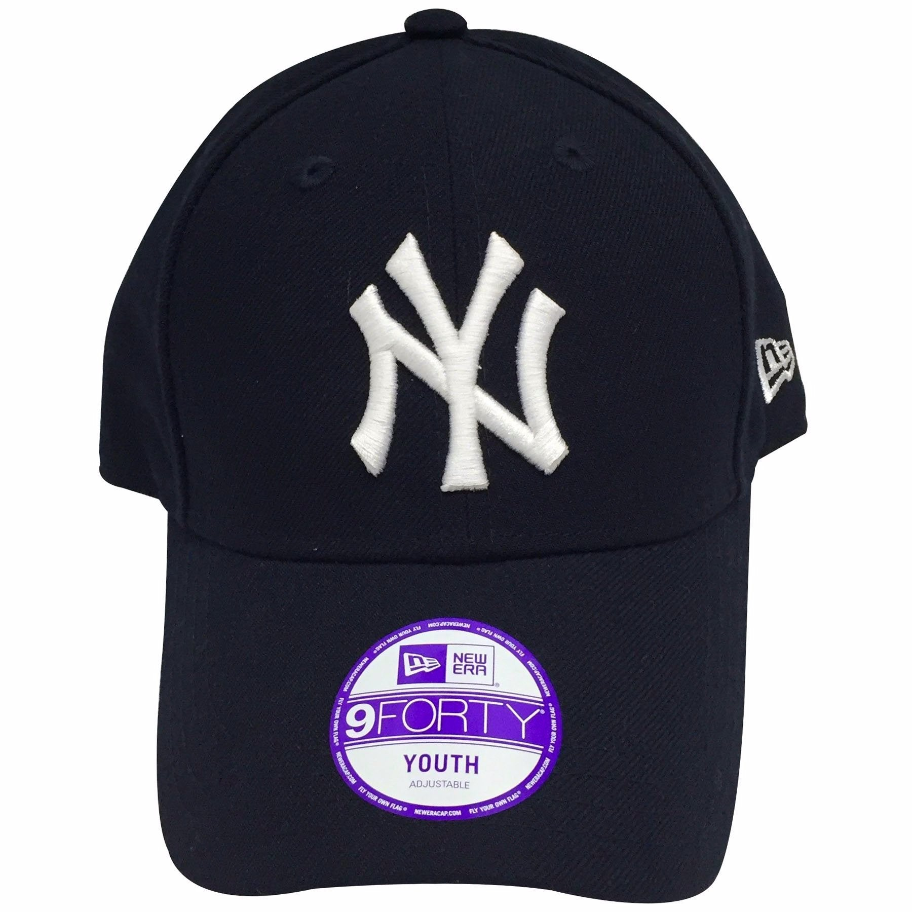 0af50362b23 the New York Yankees navy blue dad hat has a white New York Yankees logo  embroidered