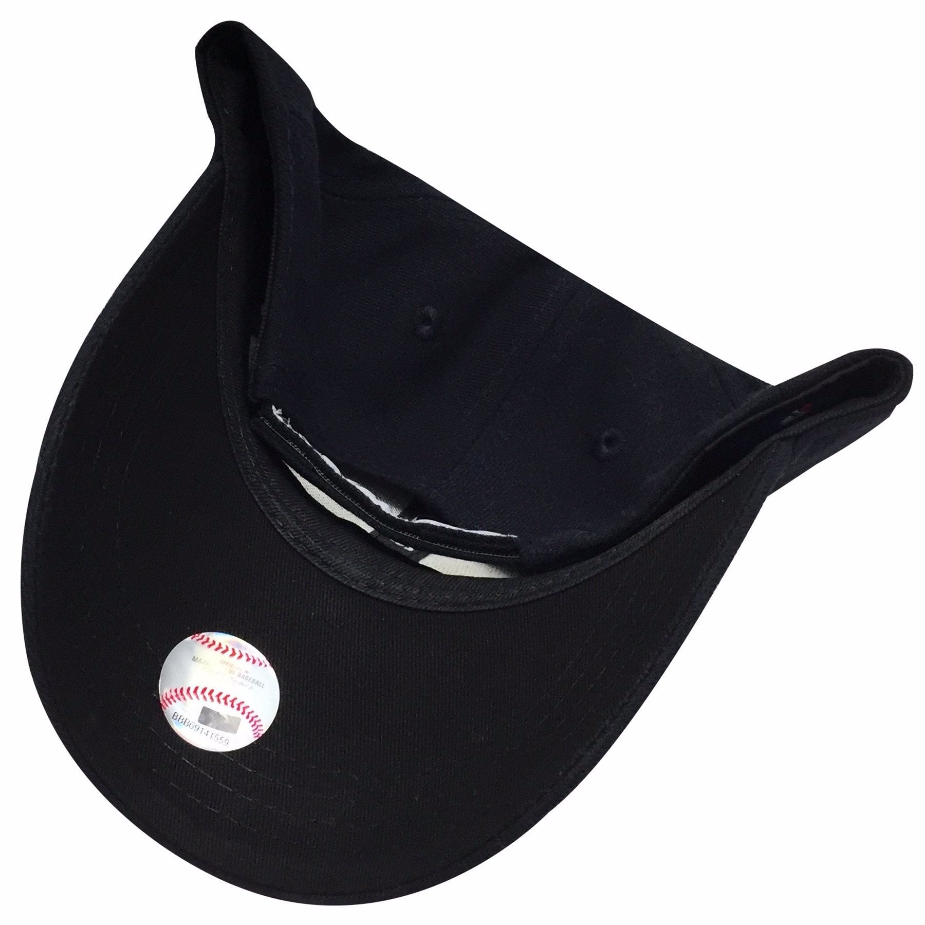 7925792e182 ... the navy blue kid s sized new york yankees velcro strap dad hat has a  navy blue