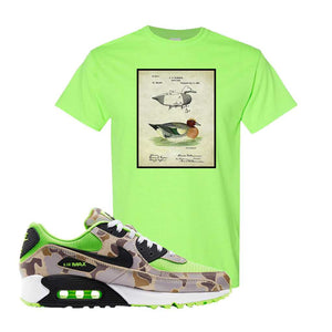 Air Max 90 Duck Camo Ghost Green T Shirt | Neon Green, Decoy Duck