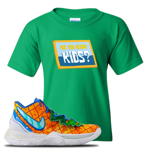 Kyrie 5 Pineapple House Kid's T-Shirt | Irish Green, Are You Ready Kids?
