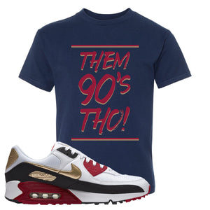 Air Max 90 Chinese New Year Kid's T Shirt | Navy Blue, Them 90's Tho