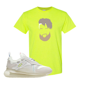 Air Max 720 OBJ Slip White T Shirt | Safety Green, OBJ Head