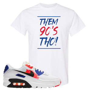Air Max 90 Paint Streaks T-Shirt | Them 90s Tho, White