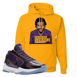 Kobe 5 Protro 5x Champ Hoodie | Escobar Illustration, Gold