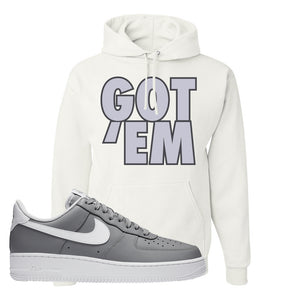 Air Force 1 Low Wolf Grey White Hoodie | White, Got Em