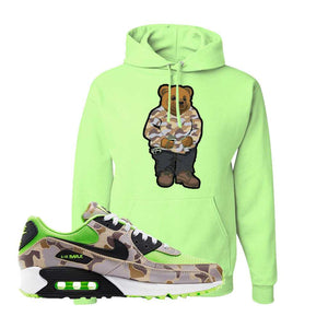 Air Max 90 Duck Camo Ghost Green Hoodie | Neon Green, Sweater Bear