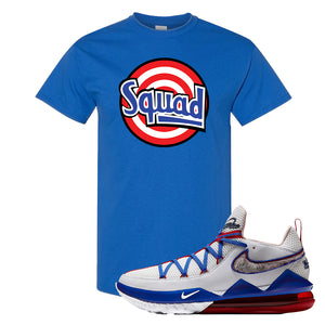 LeBron 17 Low Tune Squad Sneaker Royal Blue T Shirt | Tees to match Nike LeBron 17 Low Tune Squad Shoes | Squad
