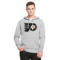 47 BRAND | PULLOVER HOODIE | PHILADELPHIA FLYERS | NHL KNOCKAROUND HEADLINE PULLOVER HOOD MENS ADULT, GRAY, Medium