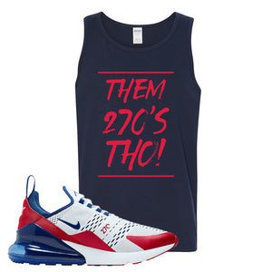 Air Max 270 USA Tank Top | Navy Blue, Them 90's Tho