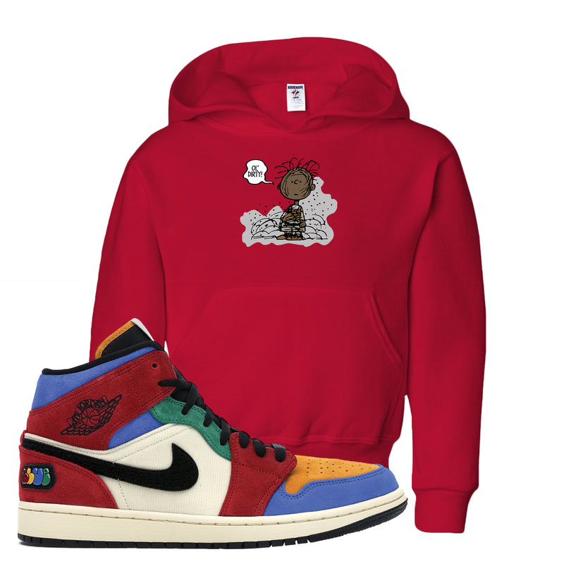Jordan 1 X Blue The Great Kid's Hoodie | Red, Ol' Dirty
