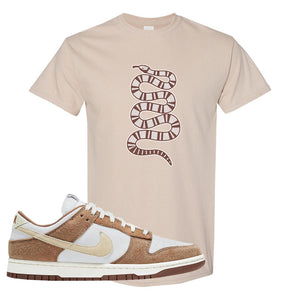 Dunk Low Medium Curry T Shirt | Coiled Snake, Sand
