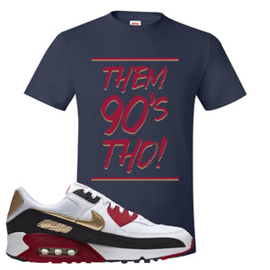 Air Max 90 Chinese New Year T Shirt | Navy Blue, Them 90's Tho