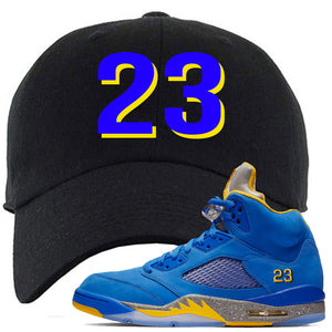 This black and blue dad hat will match great with your Jordan 5 Alternate Laney JSP shoes