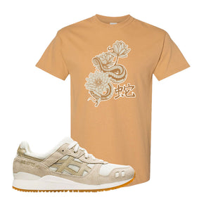 GEL-Lyte III 'Monozukuri Pack' T Shirt | Old Gold, Snake Lotus