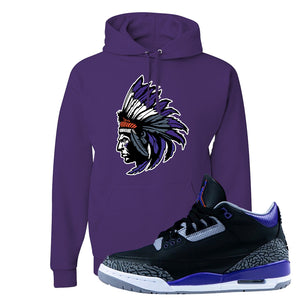Air Jordan 3 Court Purple Hoodie | Indian Chief, Deep Purple