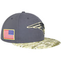 the right side of the new england patriots 2016 salute to service fitted cap is the usa flag patch