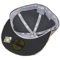 the under brim of the new england patriots 2016 salute to service fitted cap is dark gray