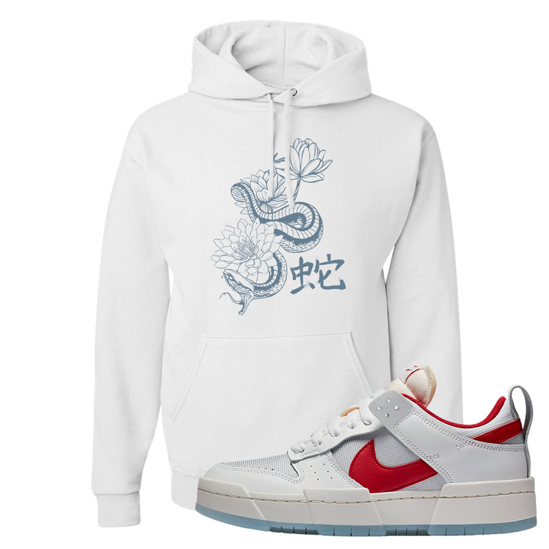 Dunk Low Disrupt Gym Red Hoodie | Snake Lotus, White
