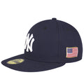 on the left side of the new york yankees usa flag patch is the usa flag patch