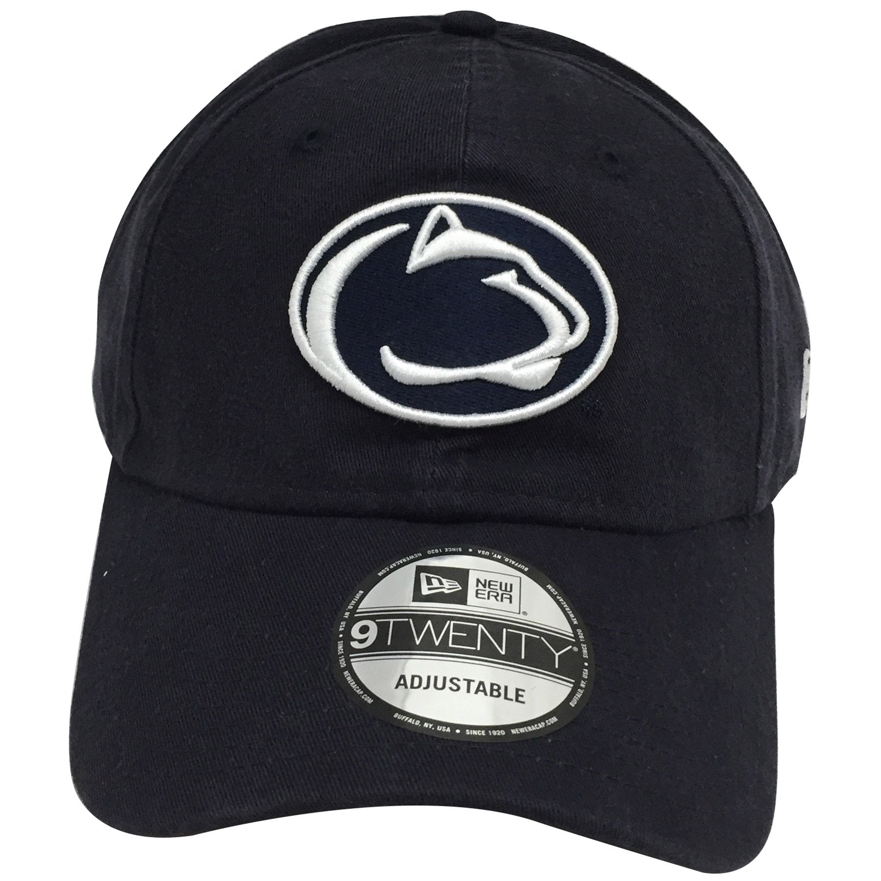 49b50cd271e White outlining embroidery logo of the Penn State Nittany Lions is shown on  the front of